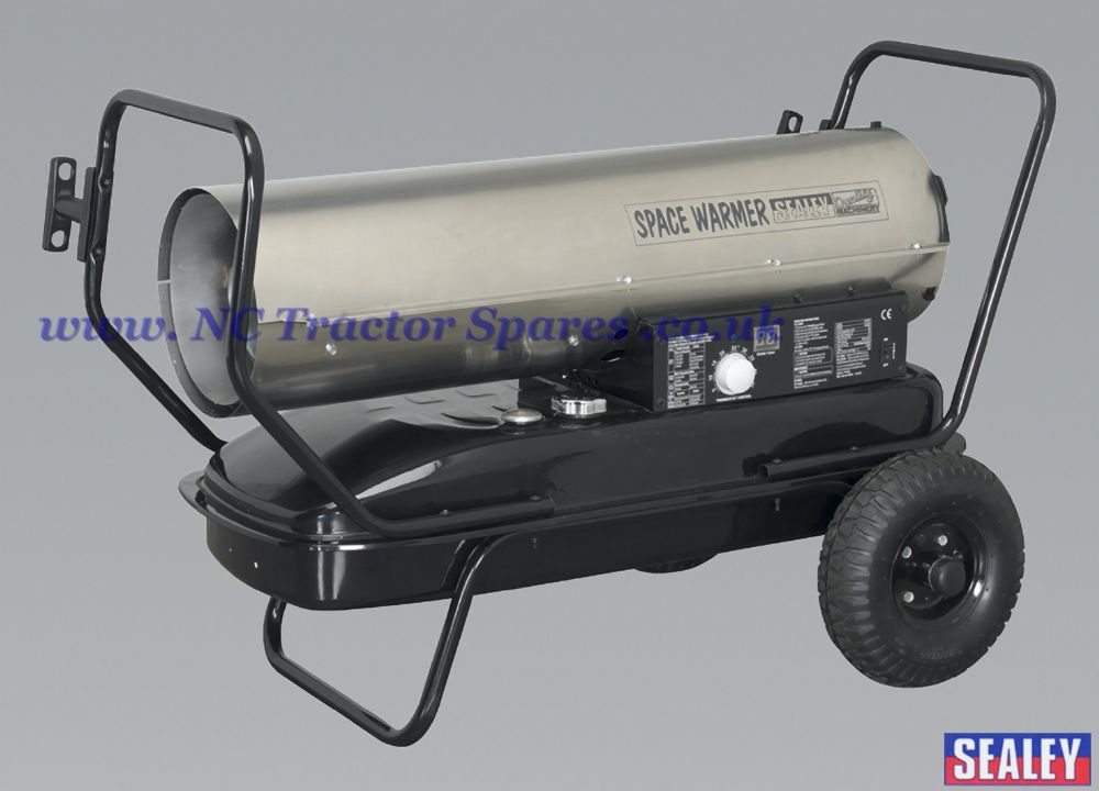 Space Warmer Paraffin, Kerosene & Diesel Heater 100,000Btu/hr with Wheels Stainless Steel